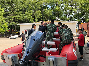 Amphibious Rescue Boats Training