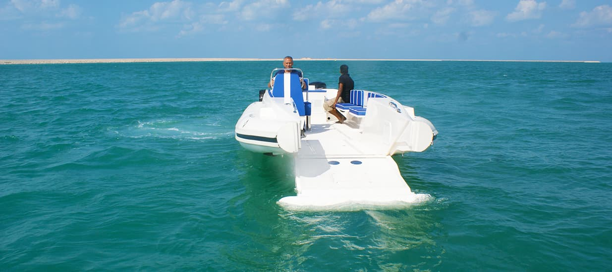 amphibious beachlander open bow