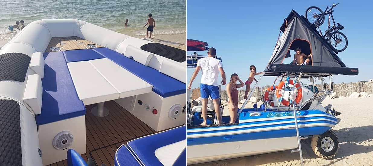 amphibious boat customization