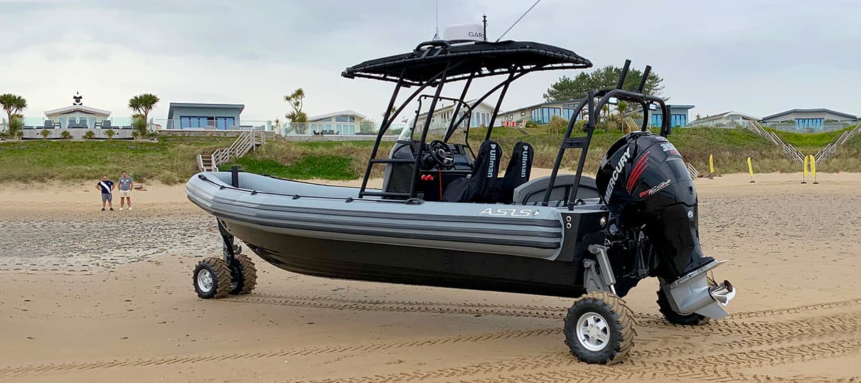 asis amphibious boat in wales