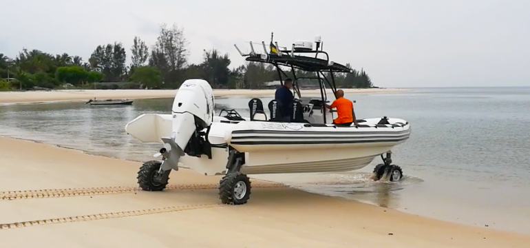 4WD Amphibious System Launch
