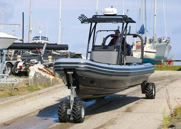 ASIS Amphibious 8.4M boat in Welsh island